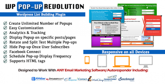 wp popup revolutionwordpress list building plugin