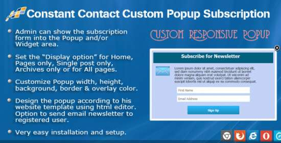 constant contact custom popup registration for wp