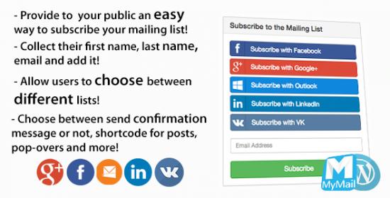 mymail social wordpress