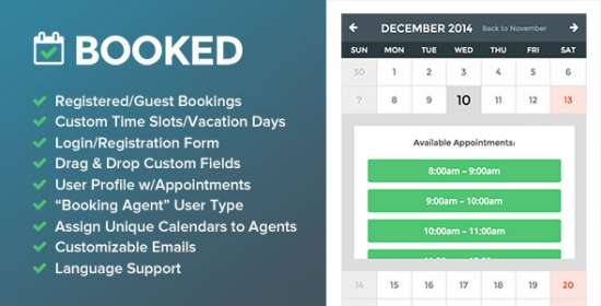 booked visit scheduling for wordpress
