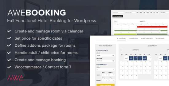 awebooking online hotel scheduling for wordpress