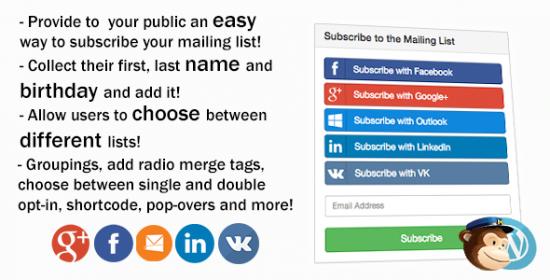 mailchimp social wordpress