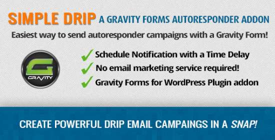 gravity kinds simple drip autoresponder addon