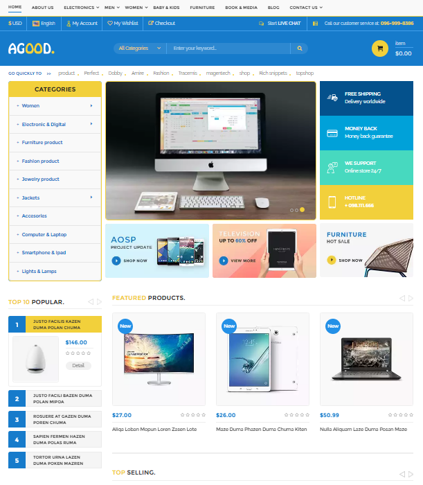 Agood Responsive Prestashop Theme