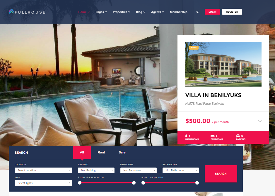 FullHouse Real Estate WordPress Theme
