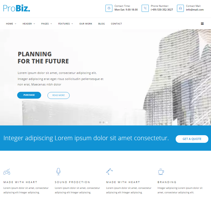 ProBiz Business Drupal Theme